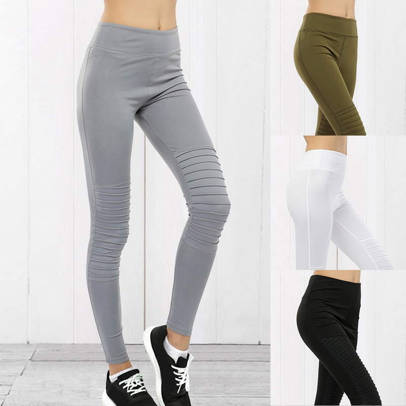 Women Workout Running Yoga Tights with Pocket Slimming Dri-fit Long Pants US Hot