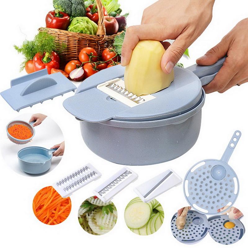 9 IN 1 Multi-function CHOPPER Easy Food Slicer Mandoline Vegetable Cutter Hot