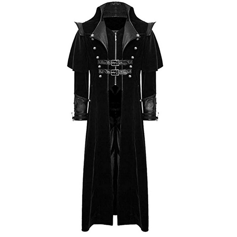 Men Steampunk Tuxedo  Tailcoat Gothic Victorian Long Halloween Cosplay h8