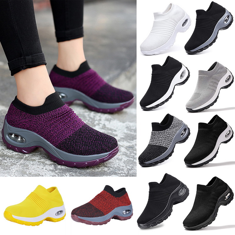 Women Sports Athletic Sneakers Running Fitness Breathable Trainers Mesh Shoes