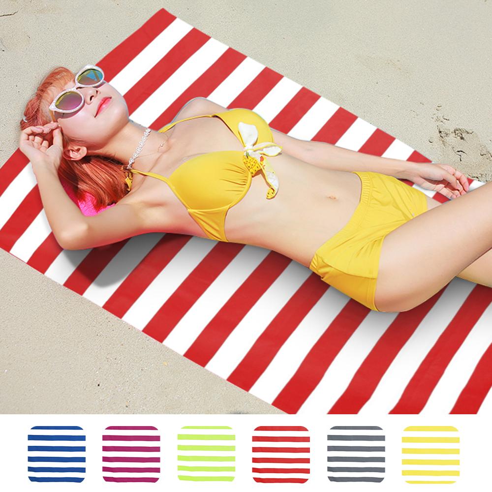 Details About 170x90cm Microfibre Striped Beach Pool Towels Quick Dry Travel Towel Super Soft