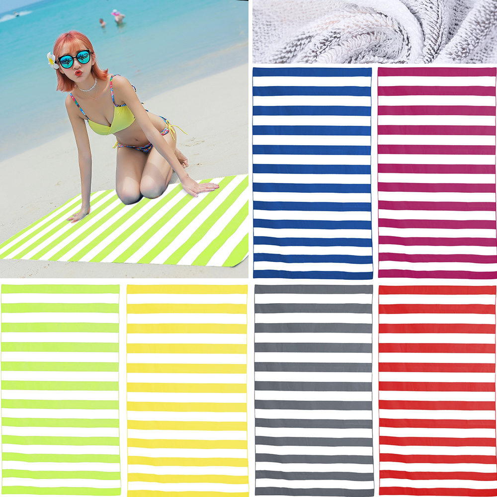 Striped EXTRA Large Quick Dry Beach Towels Sports Travel Microfiber Bath Towel