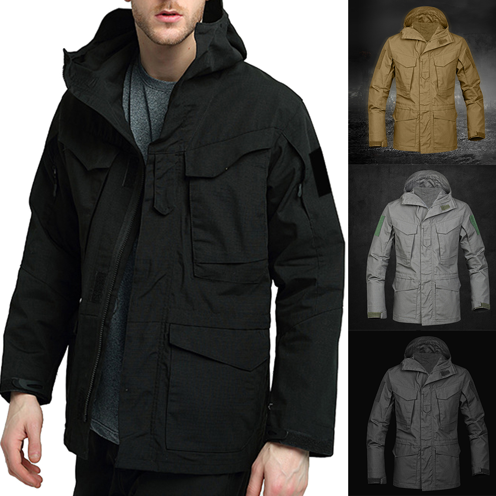 Mens Womens 2 in1 Outdoor Hooded Patchwork Warm Coat Softshell Hiking/&Ski Jacket