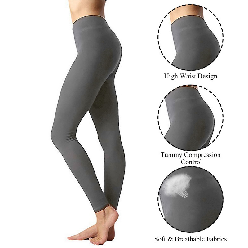 Femmes taille haute Fitness Yoga Pantalon Leggings Workout stretch pantalon Slim One