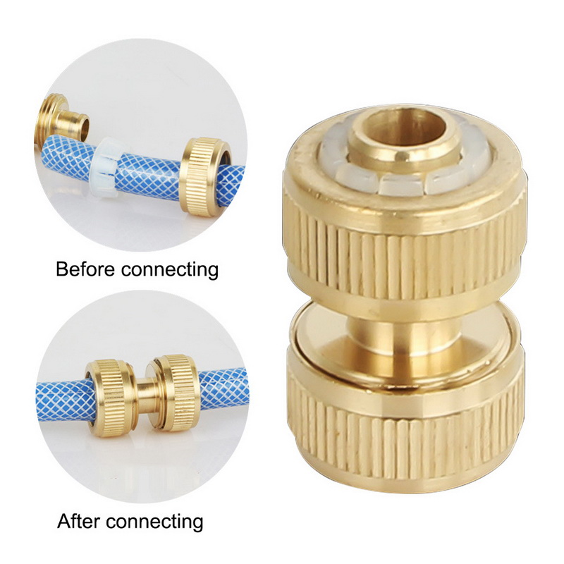 """BRASS HOSE CONNECTOR FEMALE QUICK TO 1//2/"""" COMPRESSION GARDEN WATER PIPE"""