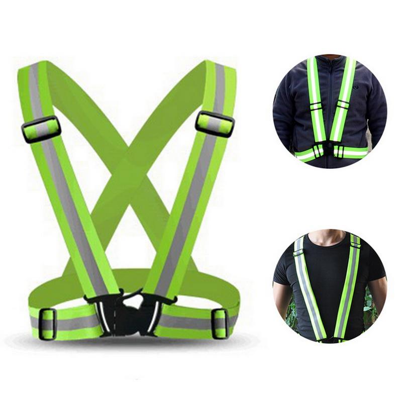 55 Sport High Visibility Safety Vest Cycling Running Hi Vis Run Sash Adult Kids