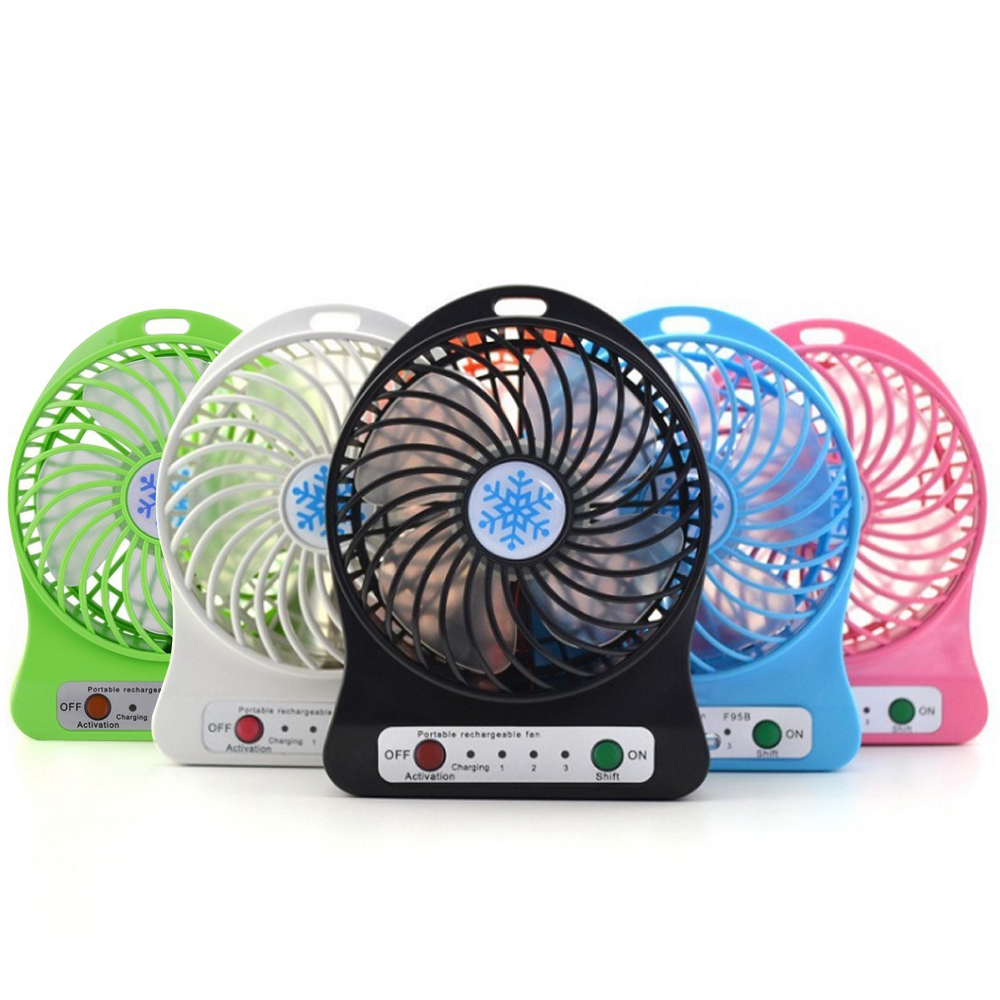 Color : Black YIWU Air Conditioning Cooler for Home Handheld Outdoor Fan Rechargeable Laptop USB Fan