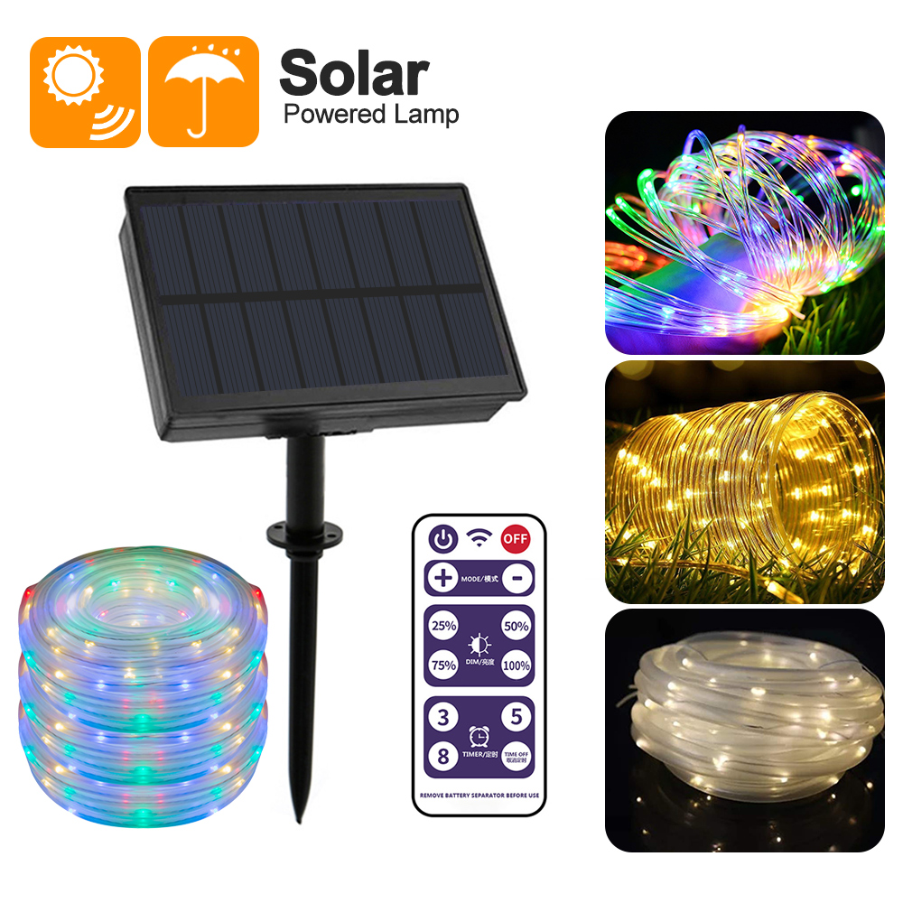 30//60LED Solar Powered Bulbs String Lights With  Remote Control For Garden 12