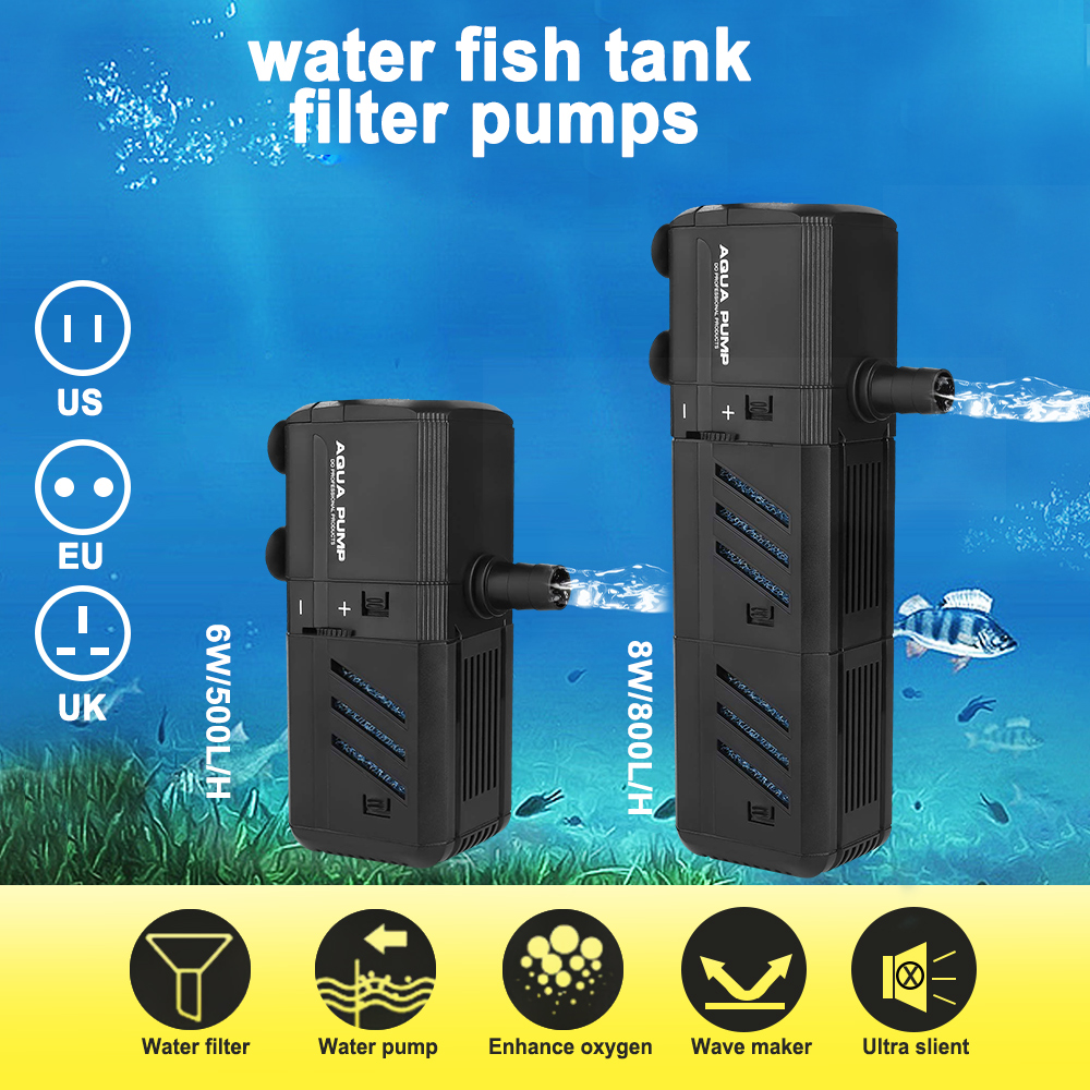 500l H 800l H Submersible Aquarium Internal Filter Pump Fish Tank Water