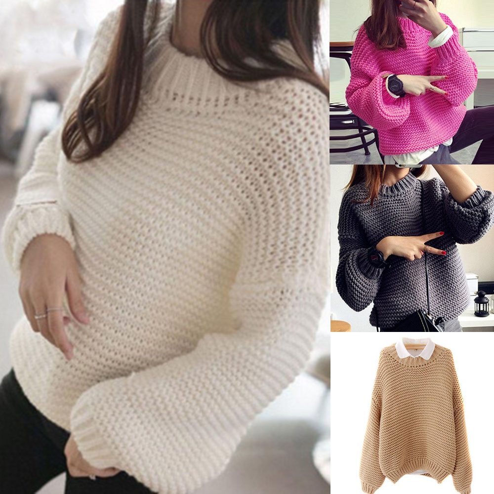 Details about Women Winter Warm Turtleneck Chunky Knitted Sweater Thick Knit Pullover Jumper
