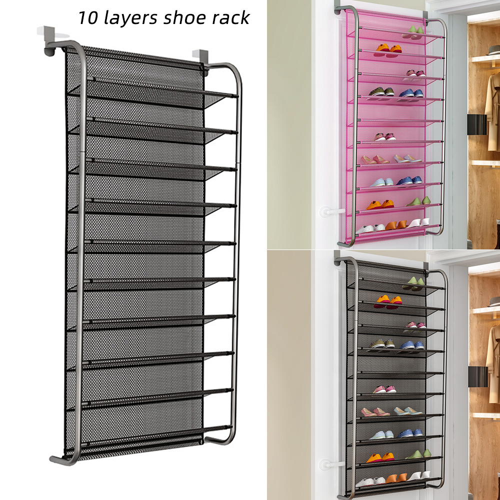 Details About Hanging Shoes Organizer Over Door For 36 Pairs Shoe Rack Closet E Saving New