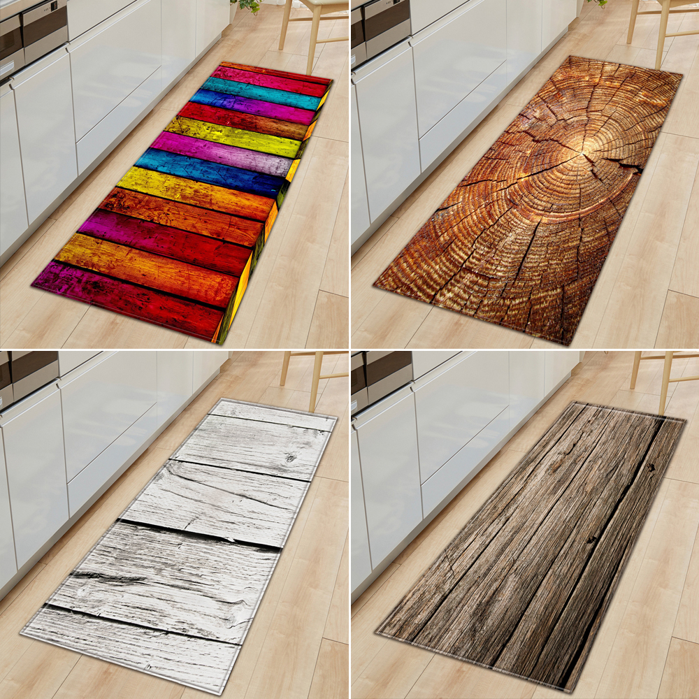 Details about Non-Slip Kitchen Floor Mat Machine Washable Rug Door Large  Runner Striped Rugs