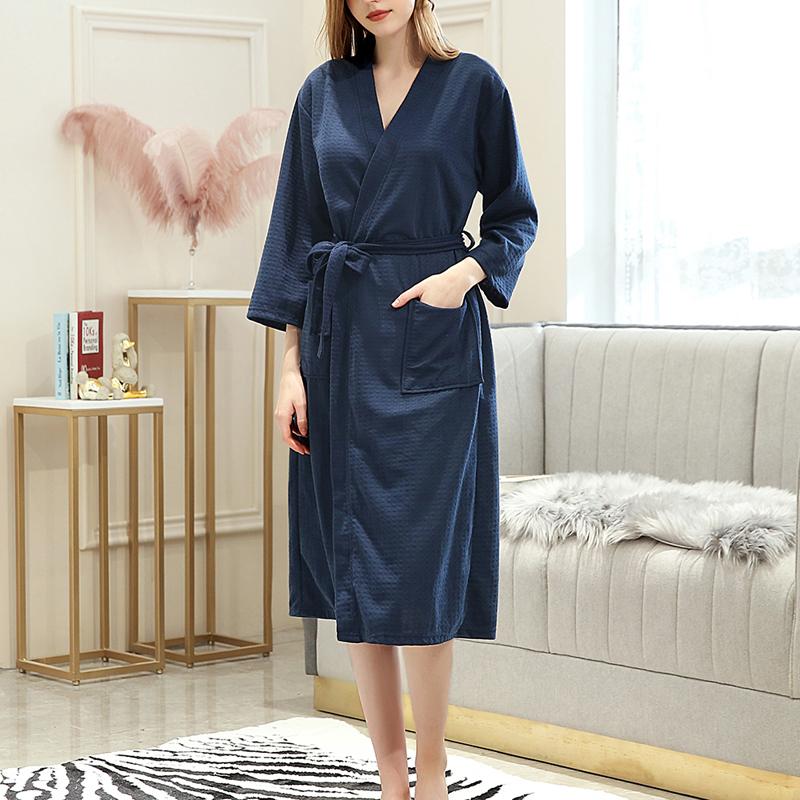 Kimono Bathrobe Dressing Morning Night Gown Robe Soft Absorbent Lightweight Long