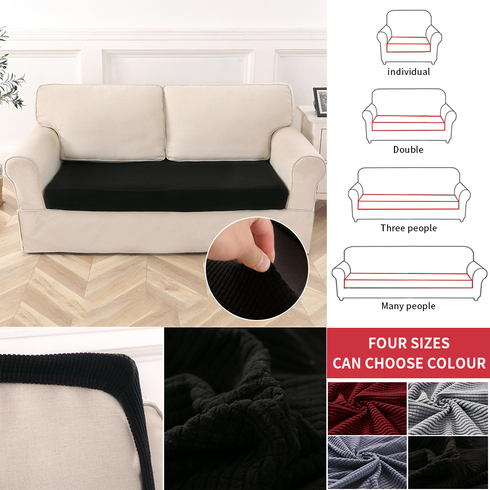 Details about 1 4Seats Stretchy Sofa Seat Cushion Cover Couch Slipcovers Protector