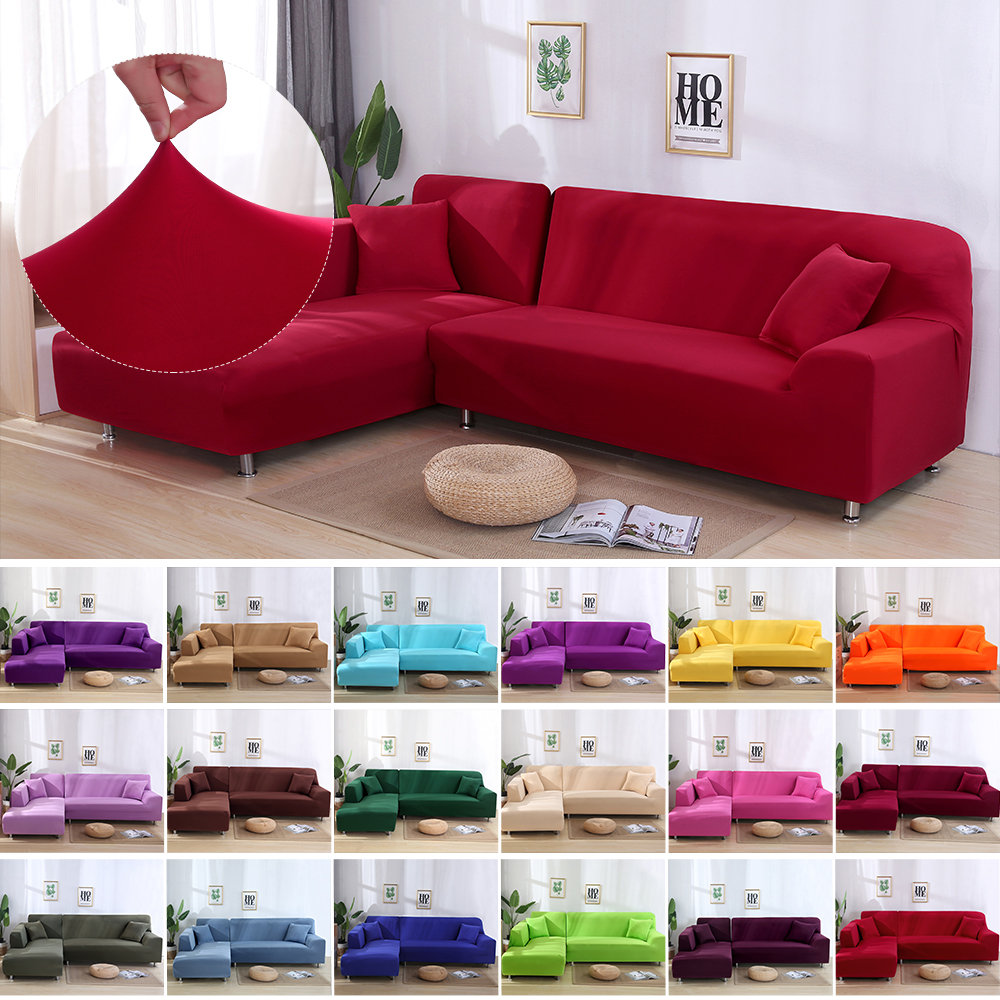 Sofa Cover Stretch Fabric Solid Color
