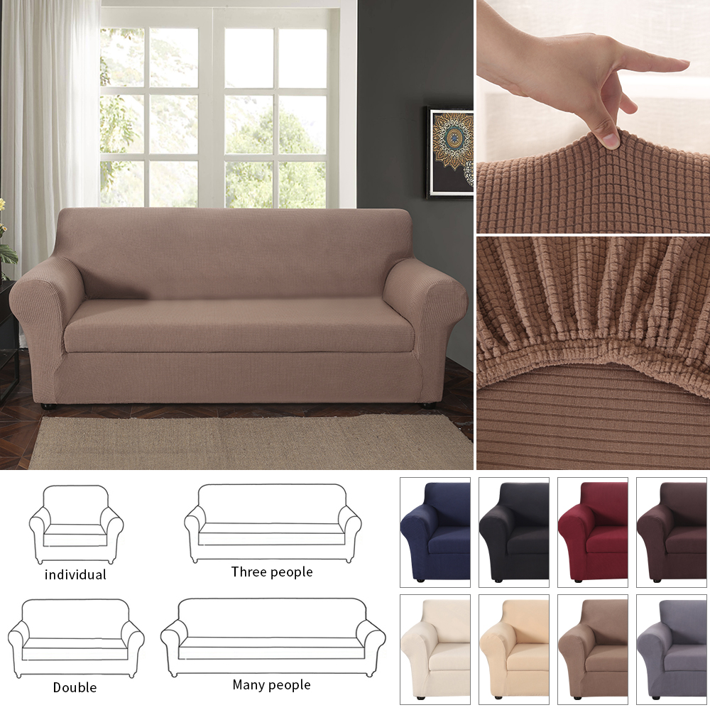 Details about Fashion Jacquard Stretch 2Separate Pieces Sofa Cover Seat  Slipcover Multi Color