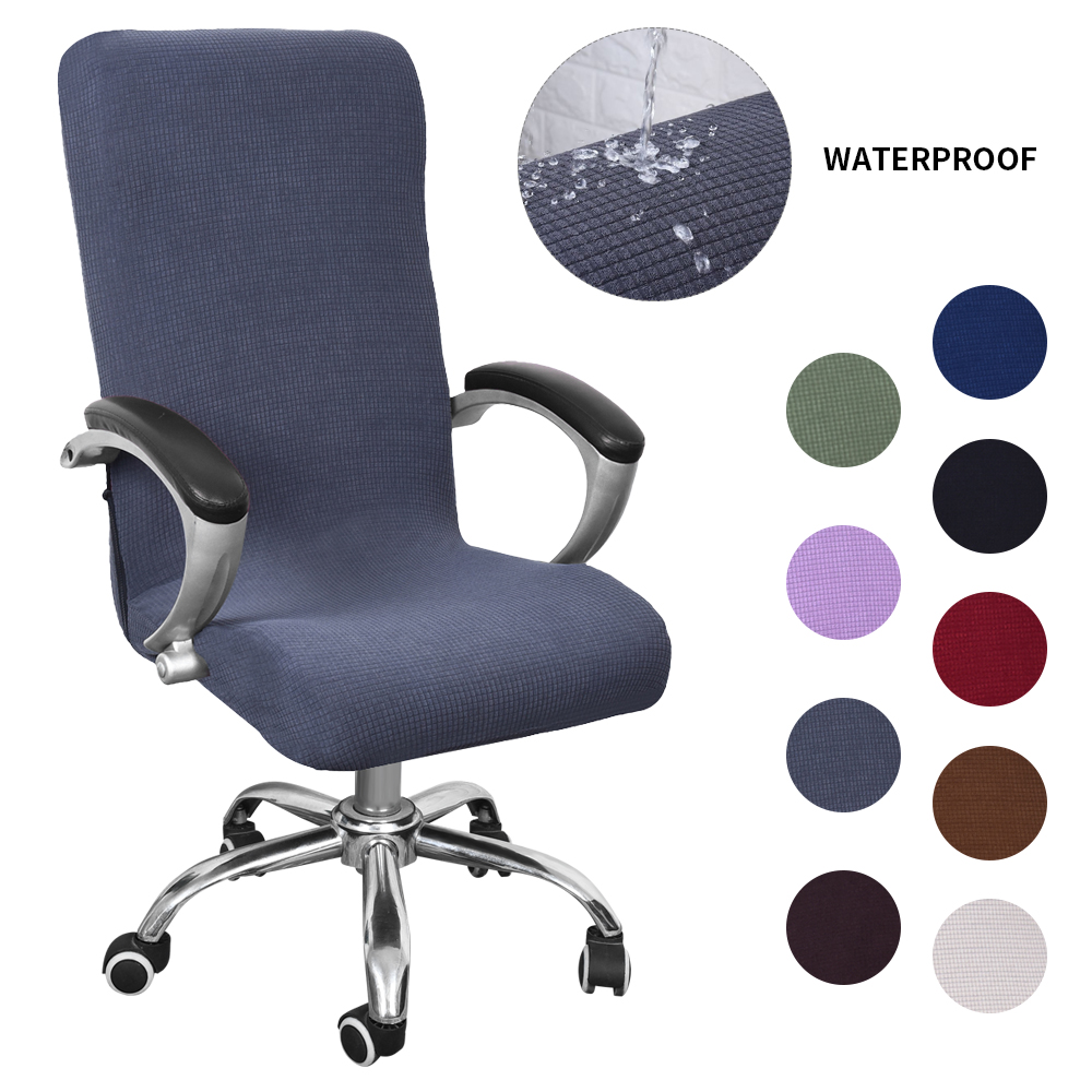 Removable Computer Office Chair Seat Cover Stretch Rotate Chair Slipcover