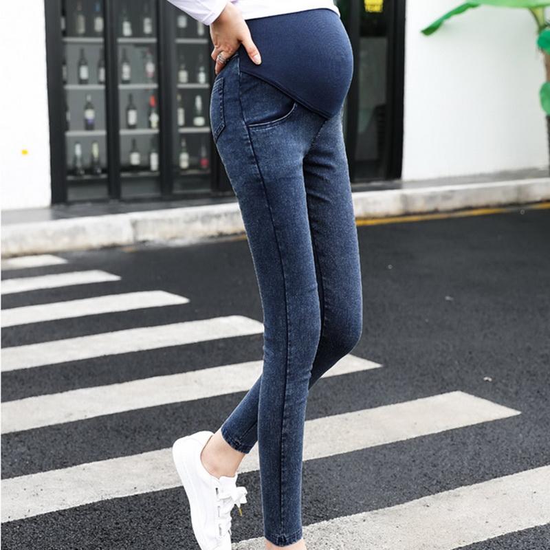 Women Maternity Pregnancy Elastic Skinny Denim Long Pants Trousers Jeans US