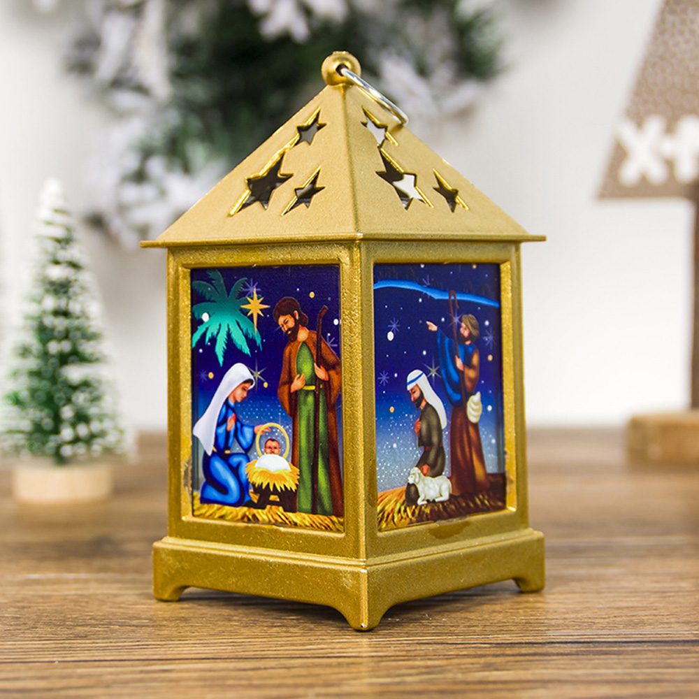 Christmas Hollow Candlestick Hanging Light Pendant Table Lamp Star Decoration
