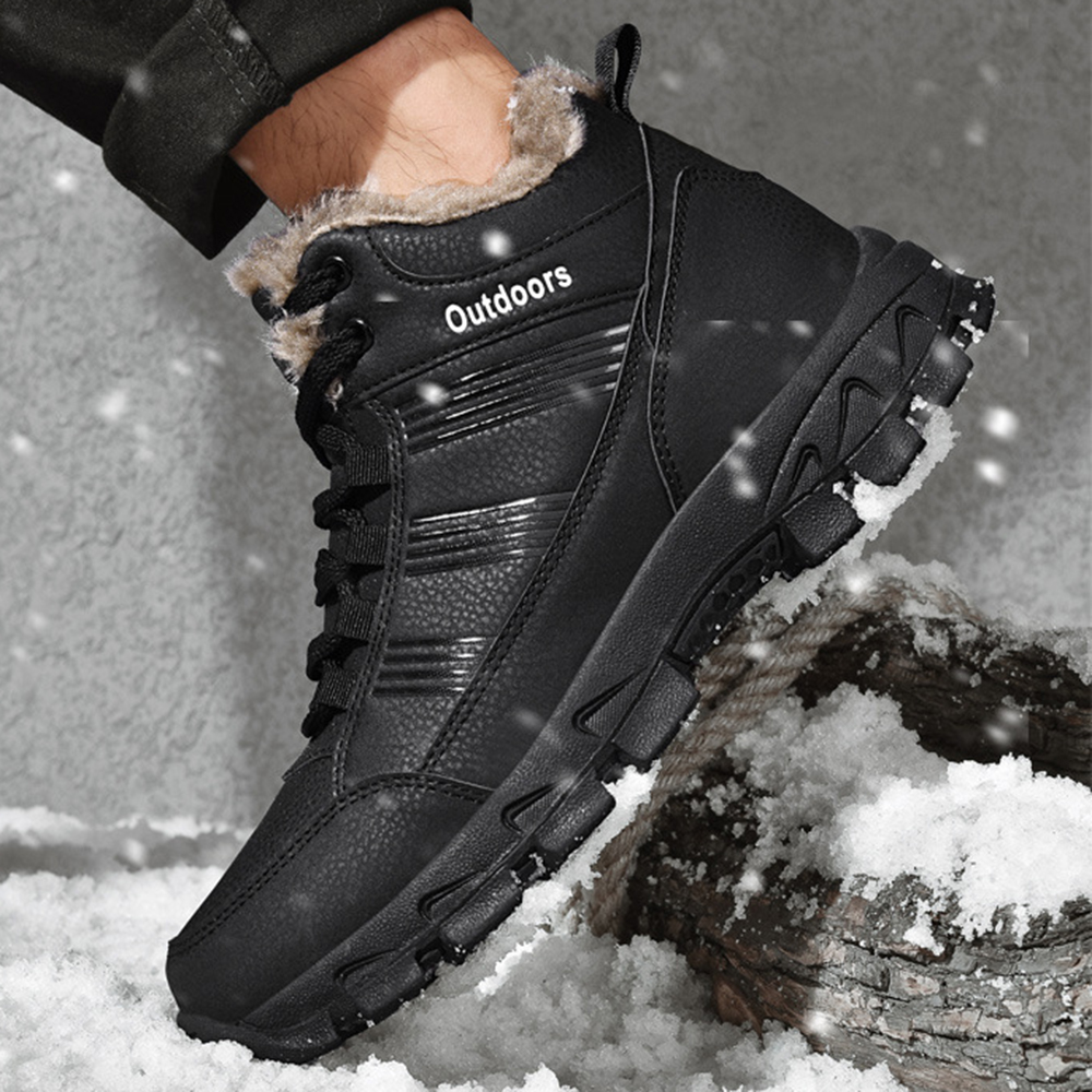 Détails sur Hommes Chaussure de sport Bottes de neige velours Shoes en coton antidérapantes