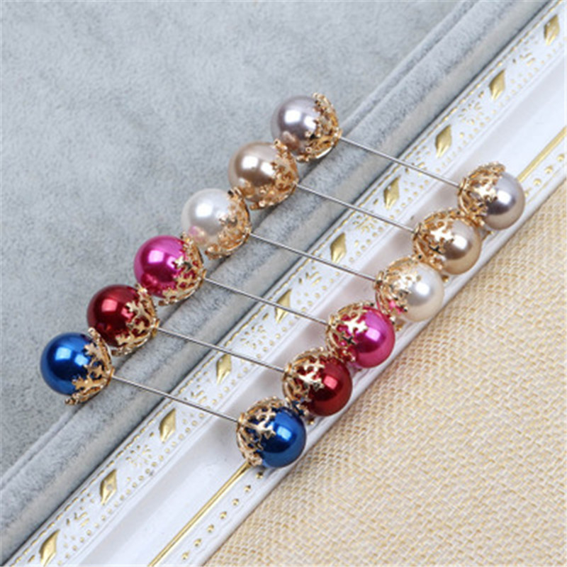 Beautiful Rhinestone Pearl hijab pins toned hat pins shawl scarf muslim women