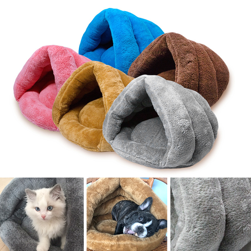 Pet Cat Dog Bed House Portable Puppy Warm Kennel Cave Nest Pad Cushion Washable.