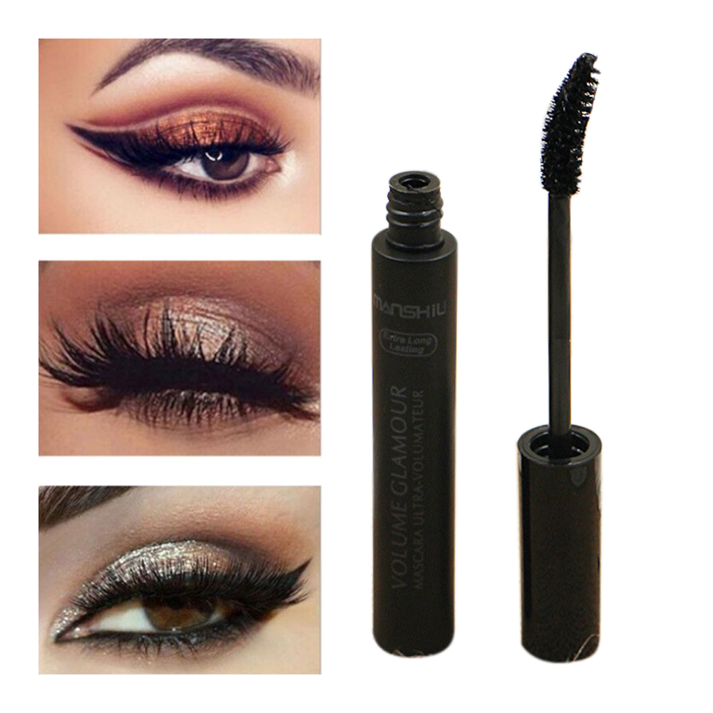 7068bf3bcb6 Lash Mascara Waterproof Curling Natural Eye Makeup Long Lasting No Blooming  Extra Long and Thick Eyelashes Black Lash Mascara