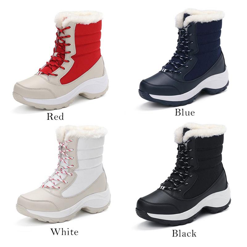 Booties Mostrar Nieve Plataforma Detalles Duck Cálido Zapatos De Botas Invierno Acerca Título Impermeable Señora Original gYf67ybv