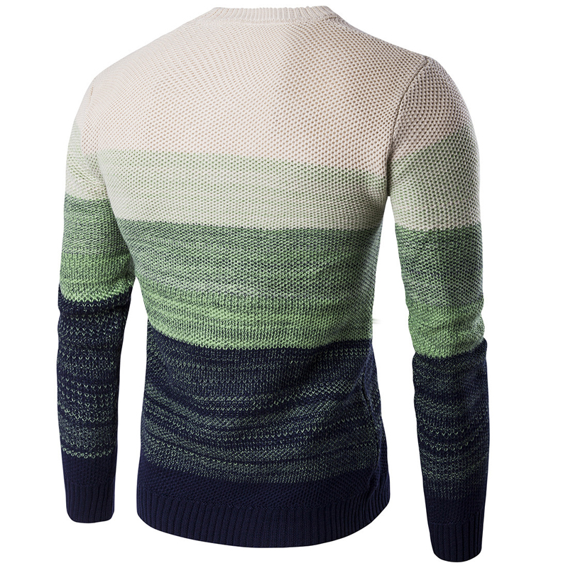 Men Casual Round Neck Stylish Knit Sweater Pullover Knitwear Jumper Coat Tops