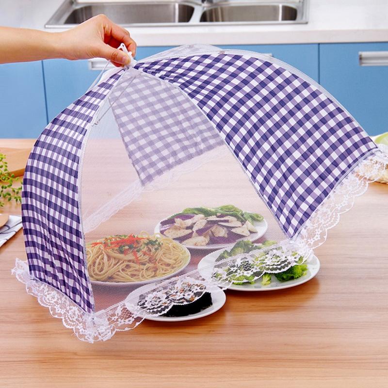 1x-Up Food Cover Tents Mesh Umbrella Picnic Party Folding D Kitchen Tent A7Q0