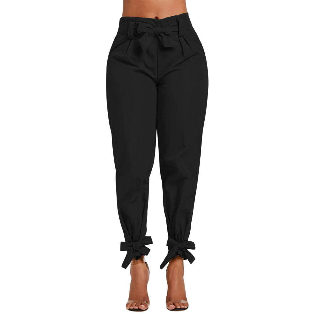 best service cheapest price structural disablities Details about Women Ladies High Waist Ruffle Bow Tie Pants Solid Casual  Work Bottom Trousers
