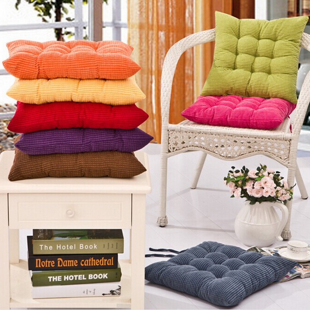 Small Seat Pad Dining Room Garden Kitchen Chair Cushions with Tie On 08