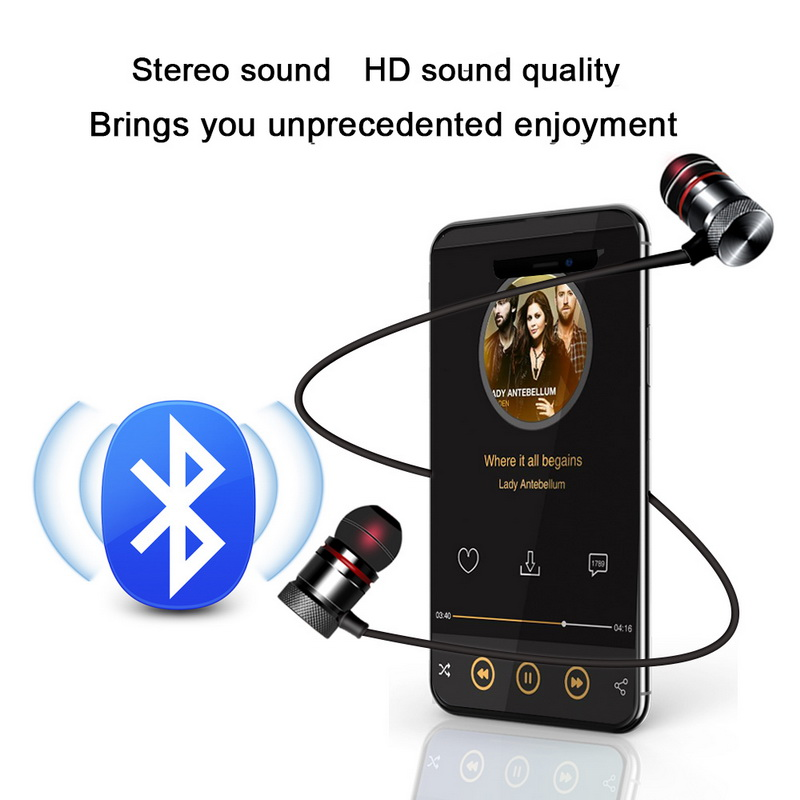 Bluetooth 4.2 Magnetic Earphone Wireless Headphones Sport Stereo Headset Earbuds
