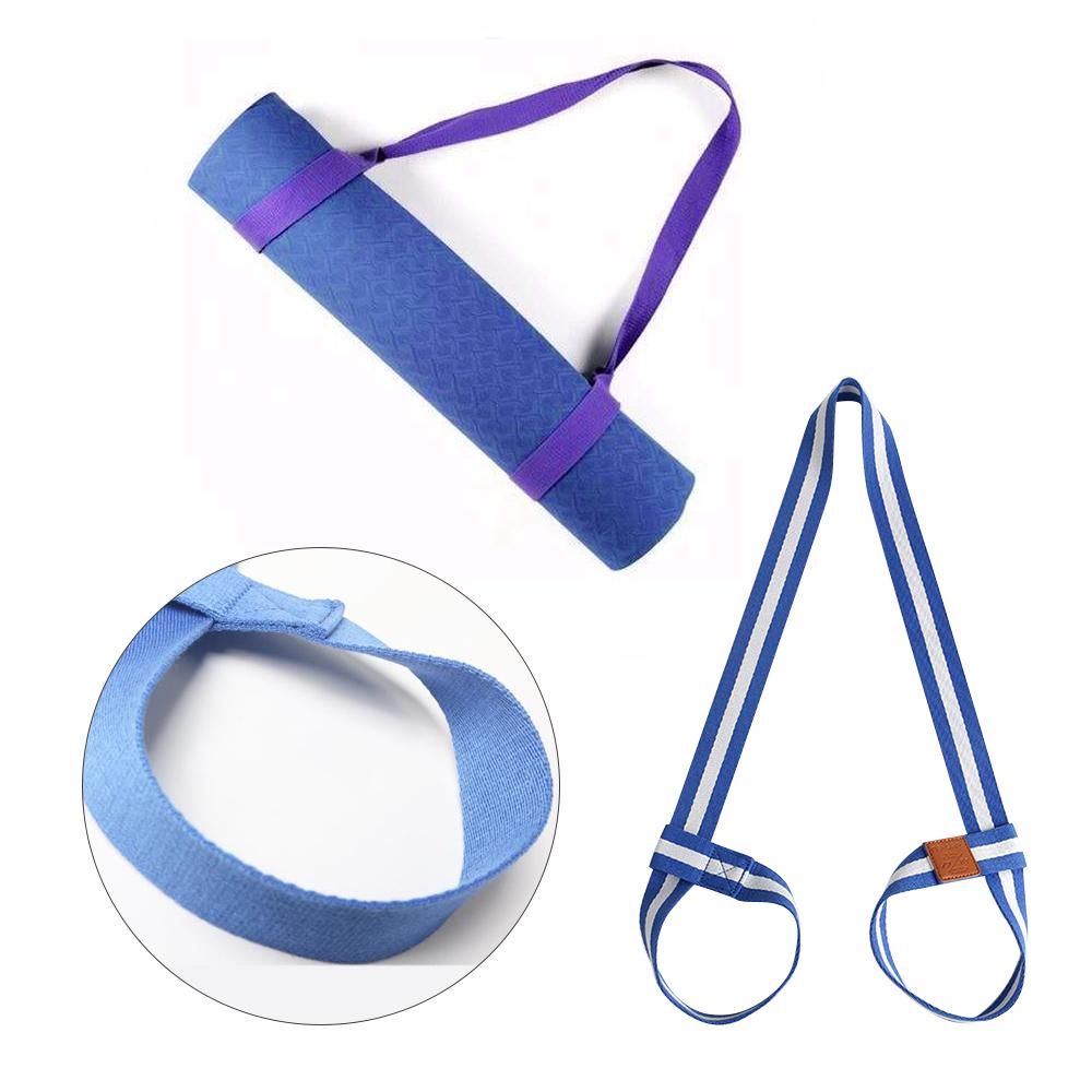 1XAdjustable Yoga Mat Carrying Belts Strap Shoulder Carrier Two-way Elastic Yoga