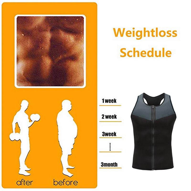 Herren Taillen-Trainer Sauna-Weste Schwitzweste Gewichtsverlust Sauna-Workout JO