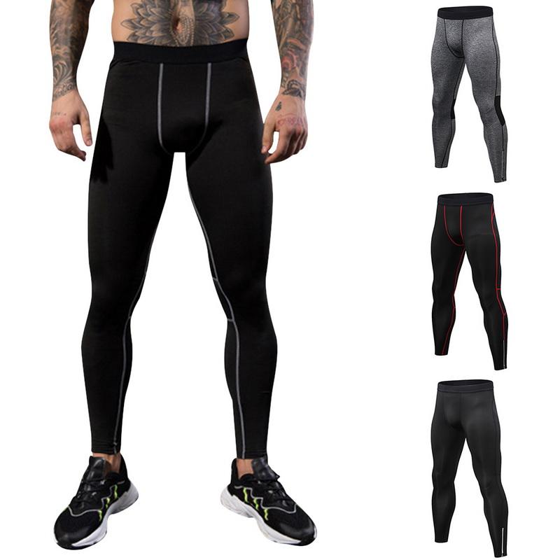Herren Lange Base Layer Hose Gym Sport Fitness Kompression Thermo Leggings Hosen