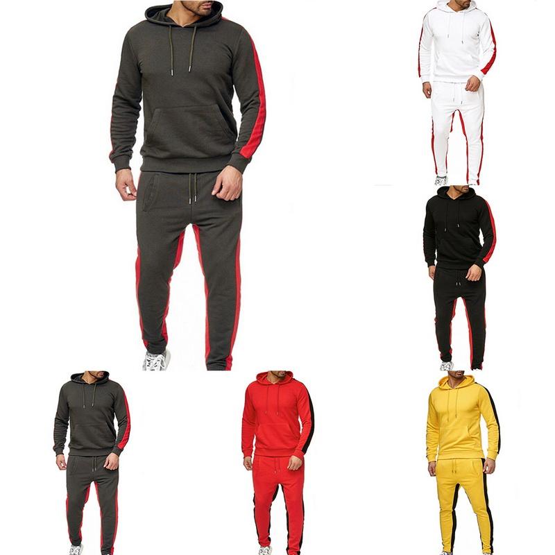 Herren Sportsanzug Kapuzenpullover Sweatjack Jogginghose Fitness Trainingsanzug