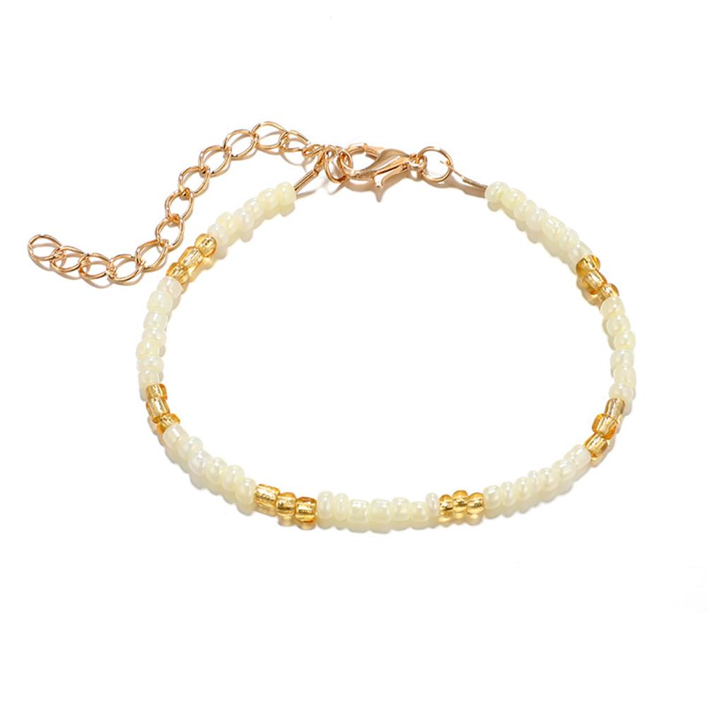 P//:5pc Charms Armbänder Set Armband Armreifen Golden Perlen Muschelschale Quaste