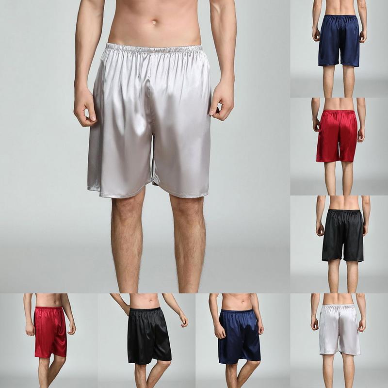 GS Herren Nachtwäsche Satin Seide Unterwäsche Boxer Shorts Hose Locker Unterhose