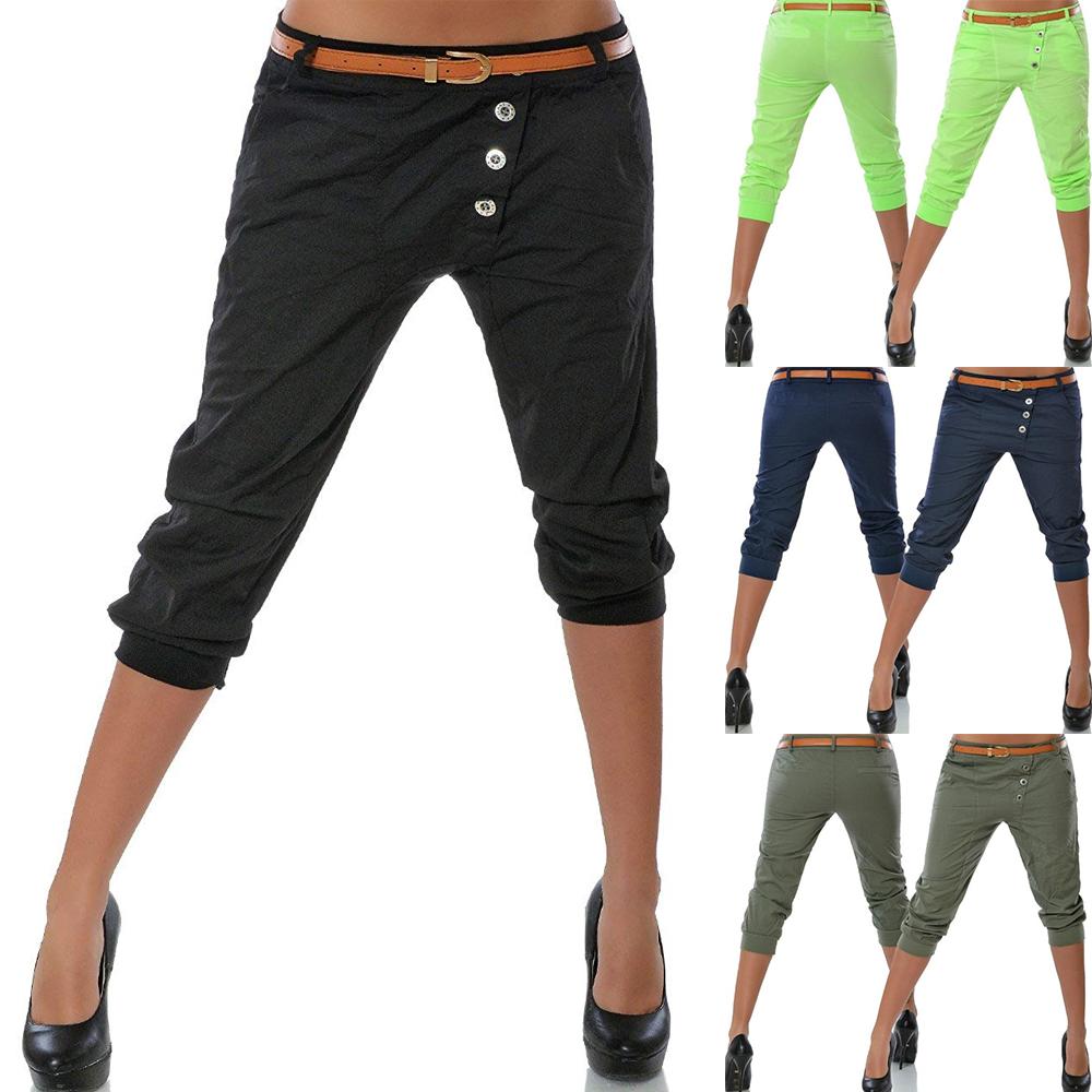 Damen Chino Sommer Hotpants Capri Kurze Hose Stoffhose Bermuda Shorts Strandhose