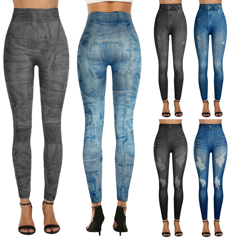 110 Damen Treggings Leggings Hose  Röhrenhose